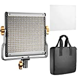 #3: Neewer Dimmable Bi-color LED with U Bracket Professional Video Light for Studio, YouTube Outdoor Video Photography Lighting Kit, Durable Metal Frame, 480 LED Beads, 3200-5600K, CRI 96+
