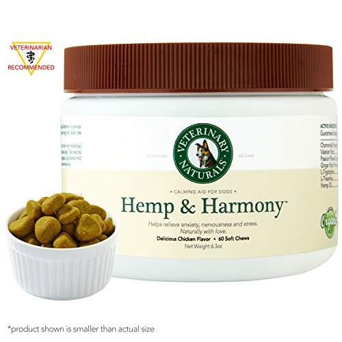 Veterinary-Naturals-Hemp-Harmony-Soft-Chew-Anxiety-Calming-Hemp-Oil-Organic-Chamomile-Valerian-Root-L-Tryptophan-Organic-Ginger-for-Dog-Stress-Anxiety-Prevention