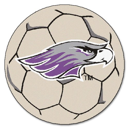 Wisconsin Whitewater Soccer Ball (FANMATS NCAA Univ of Wisconsin Whitewater Warhawks Nylon Face Soccer Ball Rug)