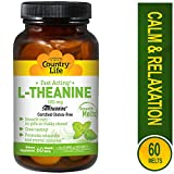 Cheap Country Life – L-Theanine, Fast Acting Mint Melts, 100 mg – 60 Smooth Melts