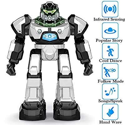 SZJJX RC Robot Toy for Kids, Remote Control Intelligent Programmable Robot with Two Control Modes