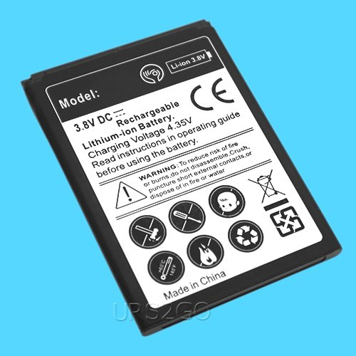 Large Capacity 2100mAh 3.8V Grade A+ Excellent Lithium Battery for Alcatel Verso 5044C Cricket Android Phone by ReelWonder