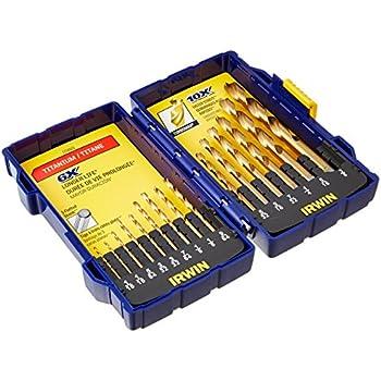 Irwin Industrial Tools 3018009 Tin Turbomax Pro Drill Bit Set 15 Piece Amazon Com