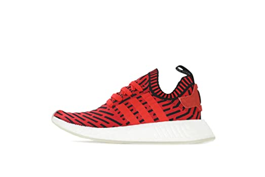 NMD R2 Primeknit Mens in Core Red/Running White by Adidas, 8.5