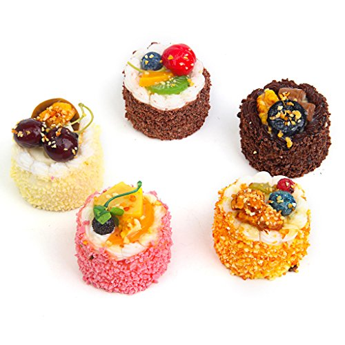 Fake Cupcake 5pack Simulation Sprinkle Artificial Food Cake Kitchen Toy - How Fake To Glasses Make