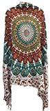 Mandala Sarong Wraps From Bali Beach Cover Up (India Forest Teal Orange)