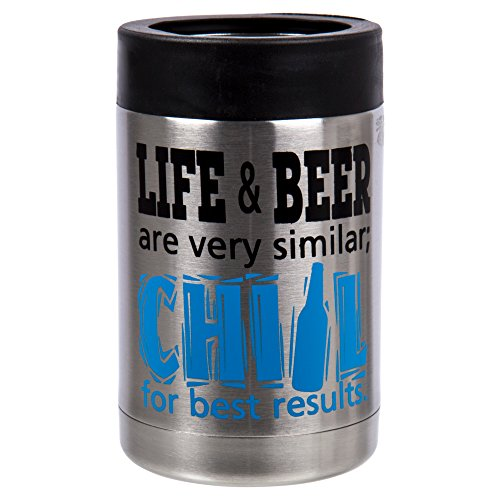 PURE Drinkware, Stainless Steel Can and Bottle Cooler, 5 inches, Blue by PURE Drinkware