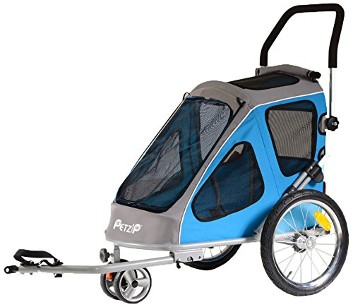 Petzip Zoom Trailer/Stroller, Blue, All Sizes by Petzip