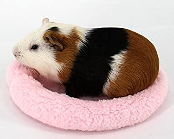 Beige-14cm Zerodis Round Shape Pet Hamster Soft Pads Comfortable Non-shedding Fleece Mat Small Animal Pets Winter Sleep Warm Bed Cushion Hedgehog House Blanket for Guinea Pig Squirrel Rats Rabbits