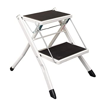 Fine Amazon Com Folding 2 Step Ladder Stool Kitchen Step Stool Caraccident5 Cool Chair Designs And Ideas Caraccident5Info