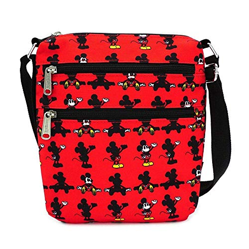 Loungefly x Disney Mickey Mouse Parts Allover-Print Nylon Passport Bag, Red, One Size