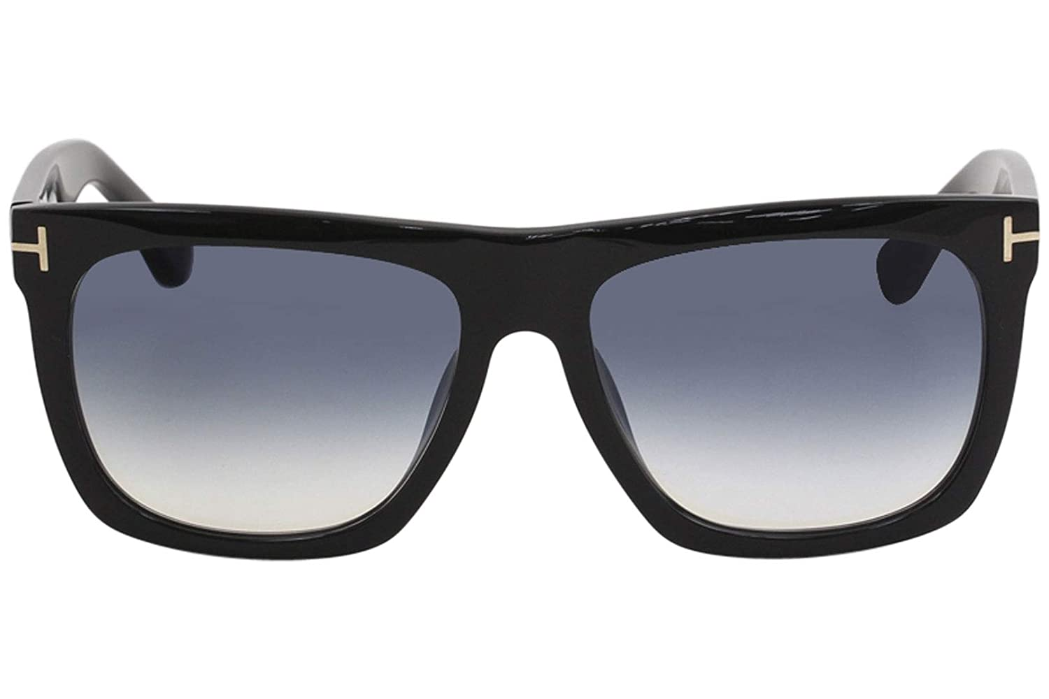 Tom Ford FT0513 01W Shiny Black Morgan Square Sunglasses Lens Category 2 Size 5