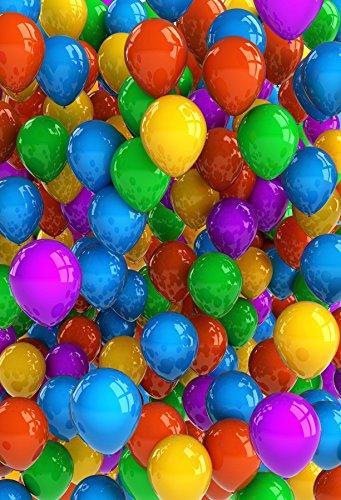 Minishot 5x7ft Girls Birthday Backdrop Kids Bday Photography Drop Candy Colored Ballons Background Summer Carnival Ballon Bouquets Banner Flag Dreamlike Princess Bikini Party Photo Shot Booth