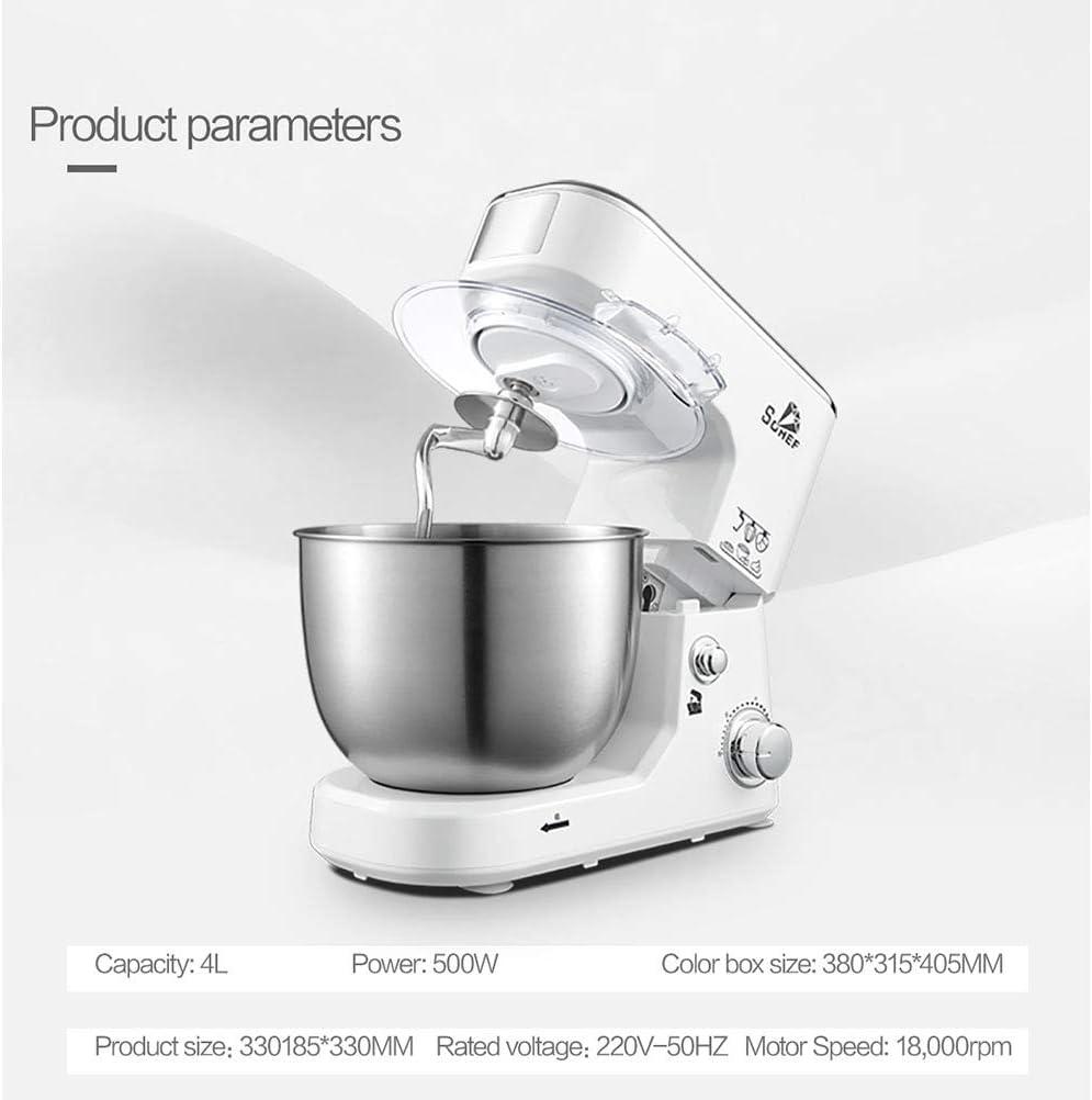 LHJCN Amasadora Repostería, 1000W Amasadoras de Pan Práctica, 5 litros Robot de Cocina Multifuncional, Amasadoras de Pan Profesional Estable Rápido, White: Amazon.es: Deportes y aire libre