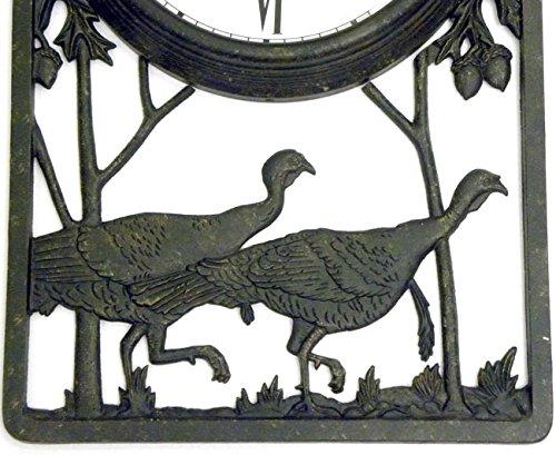 Wild Turkey Outdoor Clock