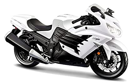 Amazoncom Maisto 2012 Kawasaki Ninja Zx 14r White Motorcycle 112