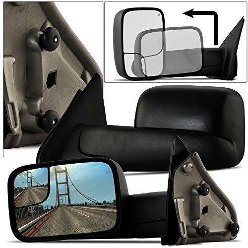 Make Auto Parts Manufacturing Driver Side Door Mirror Textured Black Power Operated Manual Folding Heated Without Memory For Dodge Ram 1500/2500 / 3500 2002-2009 - -
