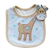 DZT1968® Giraffe Baby Cotton Feeding Smock Bibs Burp Cloth Towel (1~2 Years)