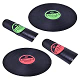 LOHOME Soft Vinyl Placemat - Vinyl Record Placemats Silicone Plate Holder Tableware Mat Anti-Skid Tabletop Protection Prevents Slipping Best Gift for Music Lovers (Red+Green)