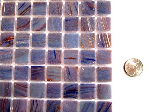 Mosaic Eye (50 Square Purple Blue Virteous Glass Mosaic Tiles, Mosaic Pieces, Mosaic Art Supplies, Tile Mosaic Supply, Mosaic Craft Tiles, Broken Dish Piece)