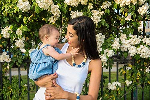 BPA Free Safe Teething Jewelry Jam Naturals Ocean Baby Teething Necklace for mom to wear and for Baby to chew on Breastfeeding Necklace ECO Friendly