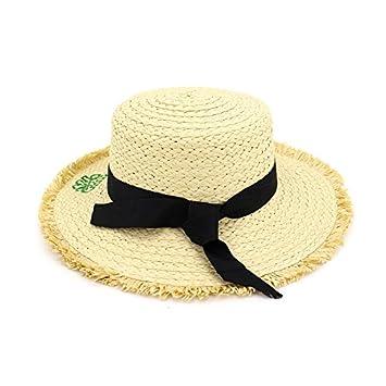 3aa110ef223f3 ALWLJ High Quality Women Flat Brim Woven Straw Sun Hats Summer Fashion Ladies  Beach Hat Boater