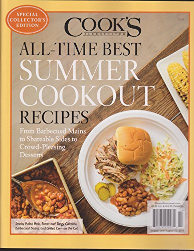Cook's Illustrated Magazine All-Time Best Summer Cookout Recipes (2018)