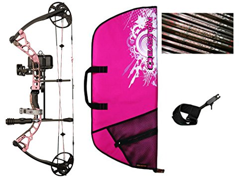 - Diamond Infinite Edge Pro Compound Bow, Pink, Left Hand, Ready to Hunt Package