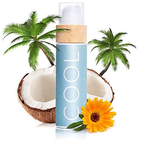 COCOSOLIS After Sun Öl   Bio-Öl für sanfte After Sun Hydratation und Erholung   Spendet Feuchtigkeit, Revitalisiert & Nährt die Haut   Mit Minze-Öl für Erfrischende Aromatherapie-Wirkung   110ml