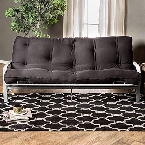 Furniture of America Brocko 70'' x 50'' Futon Mattress in Black by Furniture of America