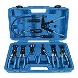 8milelake 9pcs Wire Long Reach Hose Clamp Pliers Set Fuel Oil Water Hose Auto Tools