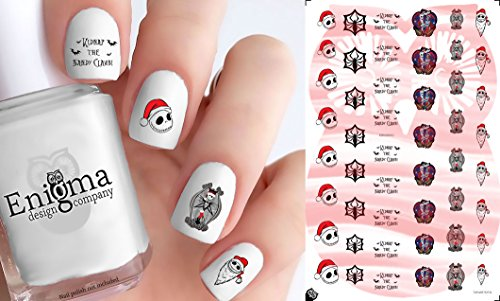 The Nightmare Before Christmas Vol I Accessories (Clear Water-Slide Nail Decals)