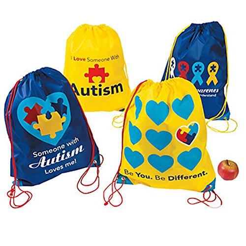 Autism Awareness Rope Bag Backpacks