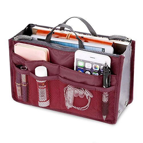 à voyage Rokoo sac main loisir maquillage Femmes organisation mode rangement Vin Rouge sac Articles wx1aTFq