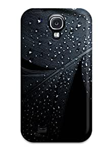 Durable Defender Case For Galaxy S4 Tpu Cover(feather Closeup)