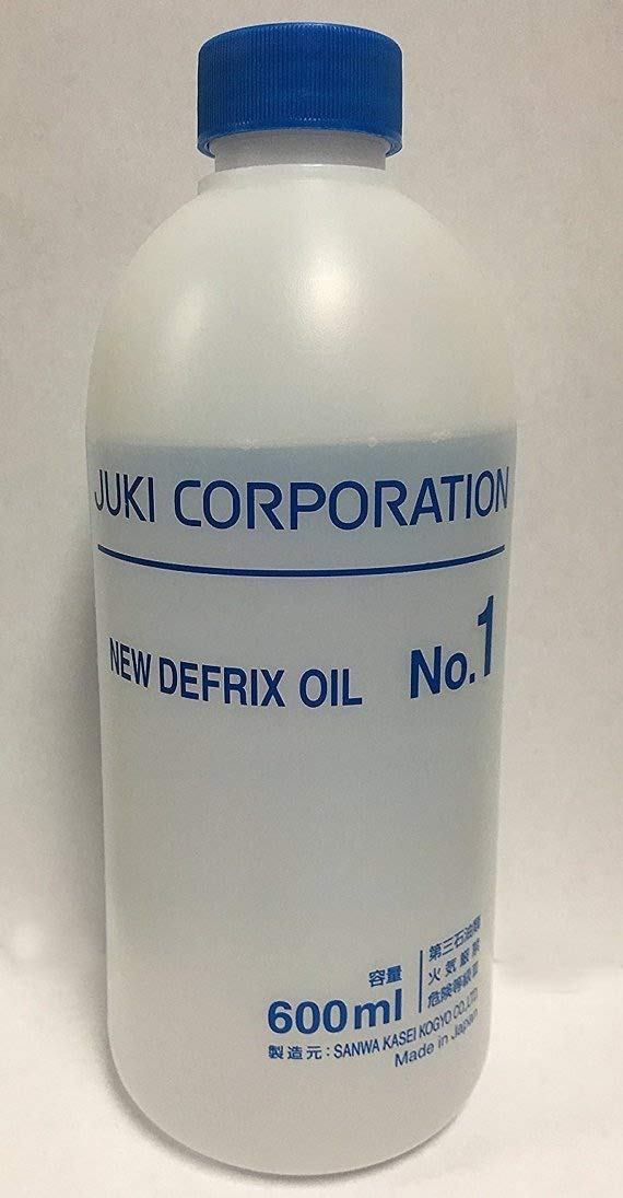 Juki Genuine Defrix Sewing Machine Oil (No.1) - 600ml Original Juki Oil