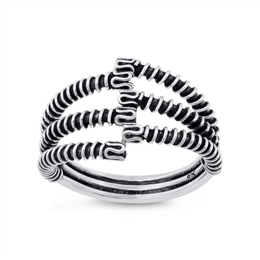Princess Kylie Oxidized Sterling Silver Designer Ring