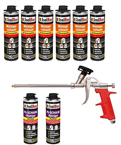 Set pistola de espuma 6 lata 500 ml Espuma de montaje 1 K Diseño Espuma de espuma de poliuretano + 2 limpiadores + 1 pistola de espuma: Amazon.es: Bricolaje ...