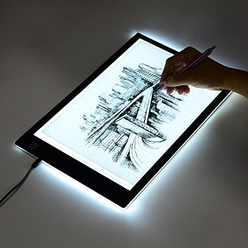 Tracing Light Box, A4 LED Artcraft Tracing Light Pad Light Box for Artists,Drawing, Sketching, Animation, 9.4x14 Inch Light Pad