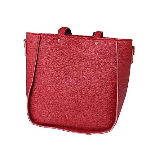 rosa 24 Mujer 26 11 cm COCO Bolso 5 clothing Rosa Rojo bandolera qxA1F