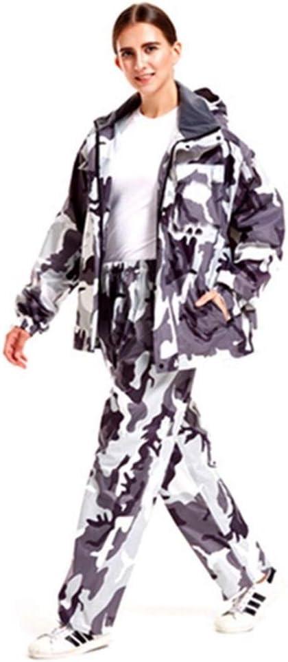 BGDRR Camouflage Adulte Imperméable en Plein Air Imperméable en Plein Air Pantalon De Vélo Vélo Moto Manteau De Pluie Transparent Chapeau Poncho Vêtements De Pluie Ensemble Green