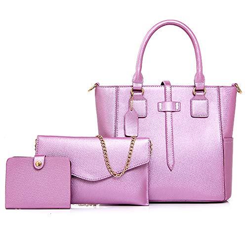 Tote Mujeres Femenino Almacenamiento Purple Hobo Las Bolso Hombro Manera Bag Crossbody De La Señoras Pu Totes Set Bags Cuero Xuanbao Shoulder Handbag 3pcs 6wqY56