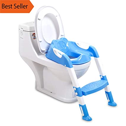 Infant Baby Potty Training Seat Children/'s Toilet Chair With Adjustable Ladder