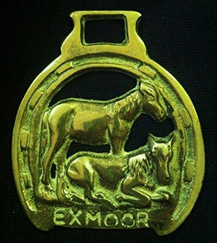 wild horse brass Vintage EXMOOR PONIES Harness Brass 3