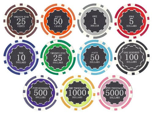 Eclipse 14gm Clay Poker Chip Sample Set - 11 New Chips (Sample Poker Chips)