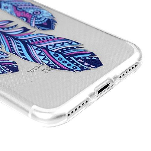 """Coque iphone 7 / iPhone 8 Mavis's Diary étui Housse de Protection TPU Silicone Souple Gel Doux 4.7"""" Ultra Mince Personnalité Téléphone Portable Phone Case Coque Attrape Rêve Totem tour + Chiffon"""