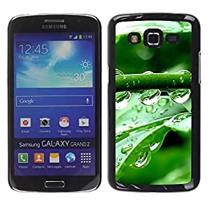 LECELL -- Funda protectora / Cubierta / Piel For Samsung Galaxy Grand 2 SM-G7102 SM-G7105 -- Crystal Water Drops --