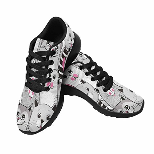 Scarpe Da Corsa Trail Running Da Donna Jogging Leggero Sportivo Da Passeggio Sneaker Atletico Cute Cats Multi 1