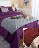 quilted bed runner - The Lakeside Collection Quilted Pet Bed Scarf - Burgundy