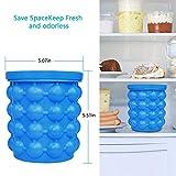 Ice Bucket, Large Silicone Ice Bucket & Ice Mold